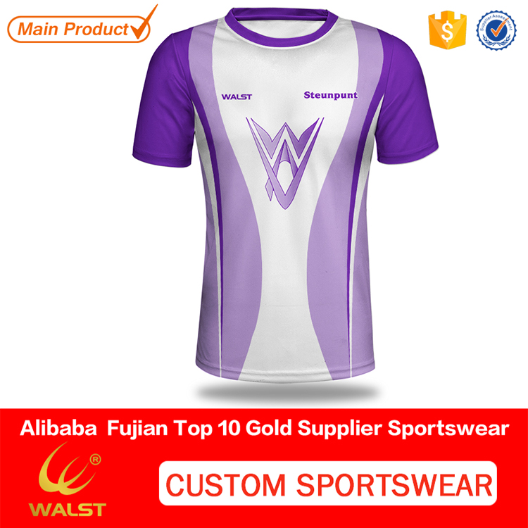 Custom design Mesh v-neck t-shirt for teamwear