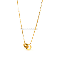 MSX-292L Luxury fashion women necklace love knot replica necklace