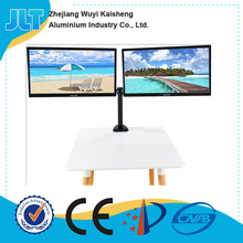"Dual LCD Monitor Desk Mount Stand Fits Two Screens up to 27"","