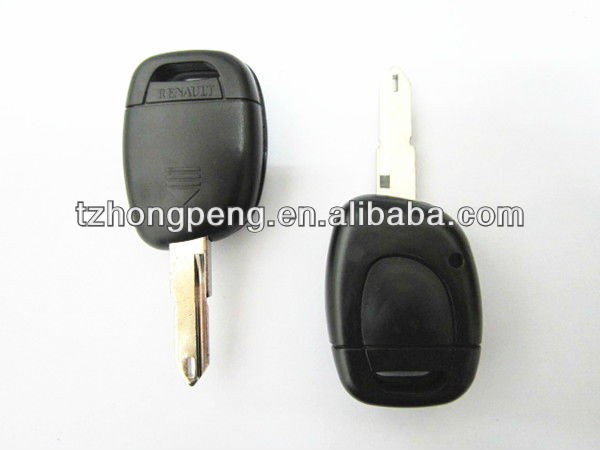 factory direct uncut blade 1 button remote car key shell for renault & auto key