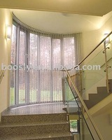 Electric vertical blinds/ golden color vertical window curtain