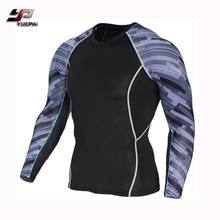 OEM conception mma rash guard sublimée imprimé hommes de compression porter