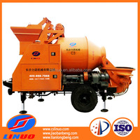 Linuo C3 trailer machinery concrete pump mixer with high quality