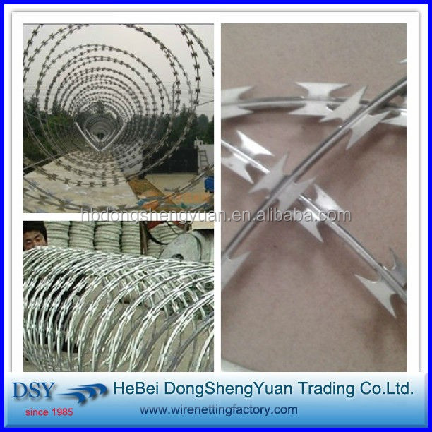 low price concertina razor blade barbed wire dsy trading companies