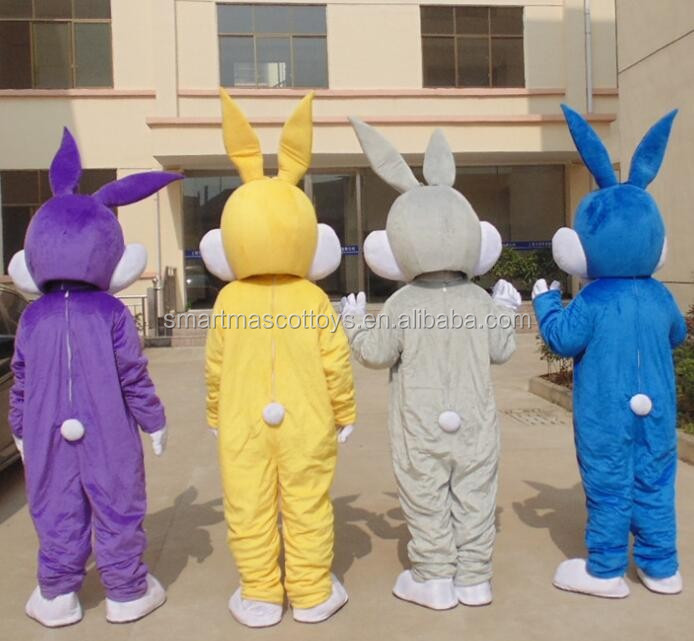plush easter bunny mascot costume adult rabbit head costume