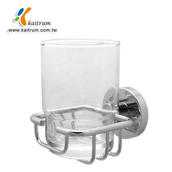 New Design Wall Mount Bathroom Brass Cup Holder With Chrome Finish - Bathroom cup holders wall mount for bathroom decor ideas
