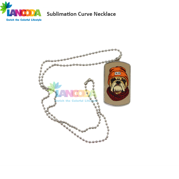 America Sublimated Dog Tag Necklace shield