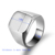 men's couple stainless steel jewelry ring