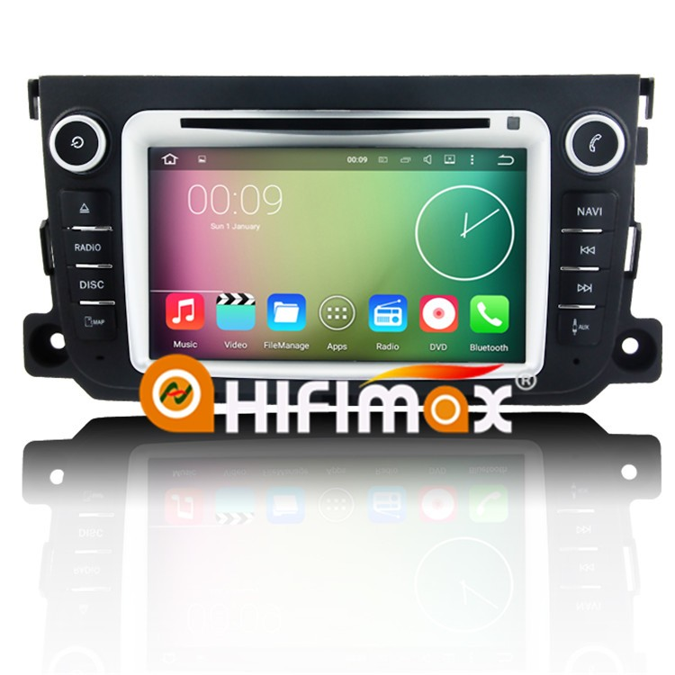 Hifimax Car dvd gps navigation for smart fortwo Android 6.0 OS