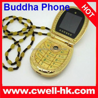 Special Design Golden Buddha Phone 268 Cute Flip Dual SIM Phone