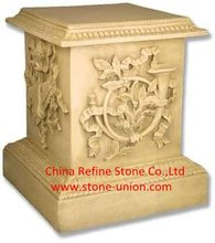 Outdoor stone pillar