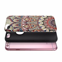 Fashion Custom 3D Pattern Soft TPU + PC Hybrid Phone Case For iPhone 6