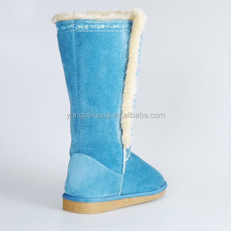 New Ladies Quilted Mid Calf Flat Snow Winter Boots