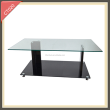 Modern design 3 layers glass coffee table CT020