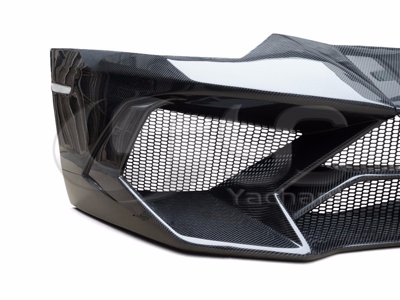 Trade Assurance Carbon Fiber Car Bodykit Front Bumper Fit For 2011-2014 Aventador LP700 LP720 BKSS-750 Style Front Bumper