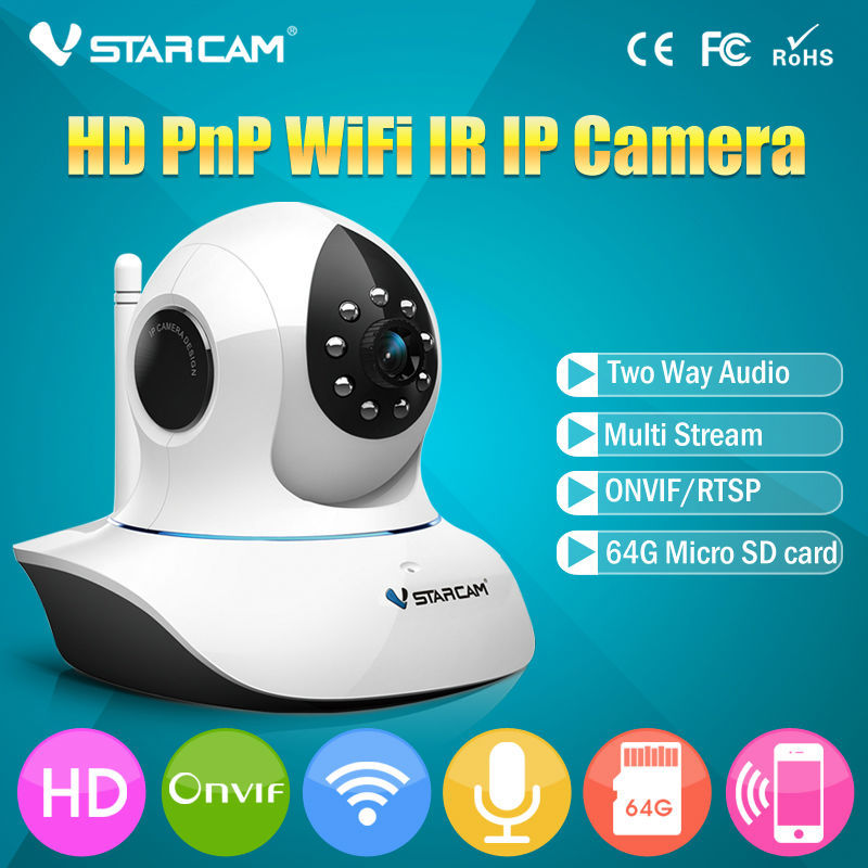 VStarcam onvif wireless ip camera 720P high definition with motion detection email notification remote pan tilt