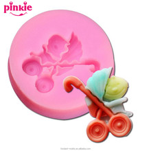 ribber silicone fondant figure molds,butterfly molds for fondant
