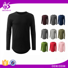 2017 Guangzhou Shandao Spring Casual Men 180g 50% Polyester 50% Cotton Long Sleeve O-Neck Blank Zipper T Shirt