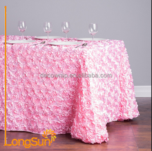 Wholesale Factory Fancy Universal Satin Petal Rosette Table Cloth for Home Wedding Decoration