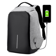 Wholesale men laptop bag nylon business Travelling waterproof USB Battery charging anti theft backpack