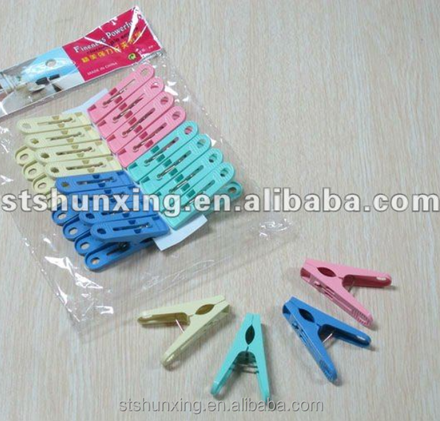 shunxing cheap practical nice strong plastic cloth peg with high quality
