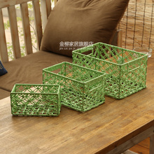Wholesale chinese cheap home small storage box weave storage bin