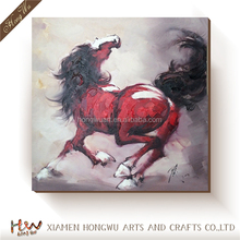 Chinese Modern Wall Art Canvas Oil Running Horses Painting