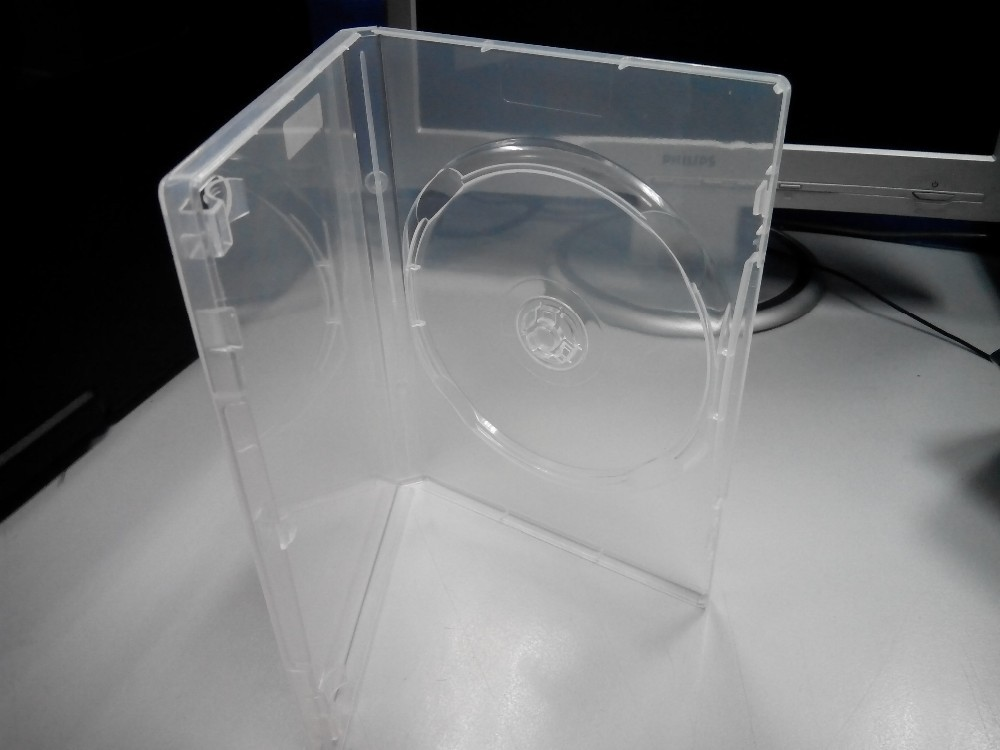 SINGLE DISK/DVD CASE/ NTFF - (SUPER CLEAR)