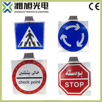 High visibility custom road safety led light traffic signs and symbols