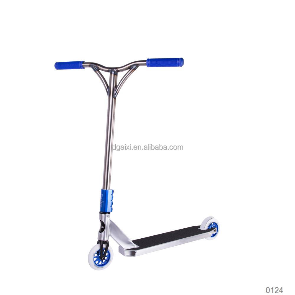 New Product Aluminum Casting Pu Wheels Sliver Tri Scooter For Kids
