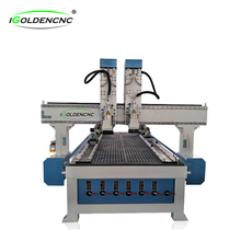 iGoldencnc two heads vacuum table cutter wood 1325 engraving machine carving machine