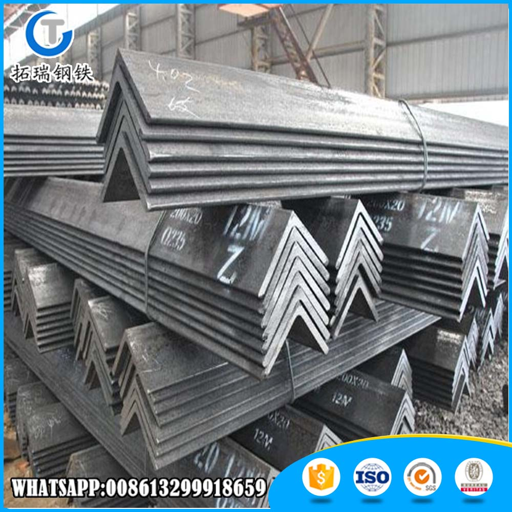 Q235 A36 SS400 hot rolled carbon steel angle iron 90 degree bar size