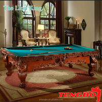 Pool Table TruckLoad Sale Chinese black eight billiard table with American billiard table cloth