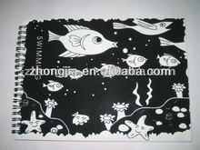 Spiral Notebook with Fish Patterns