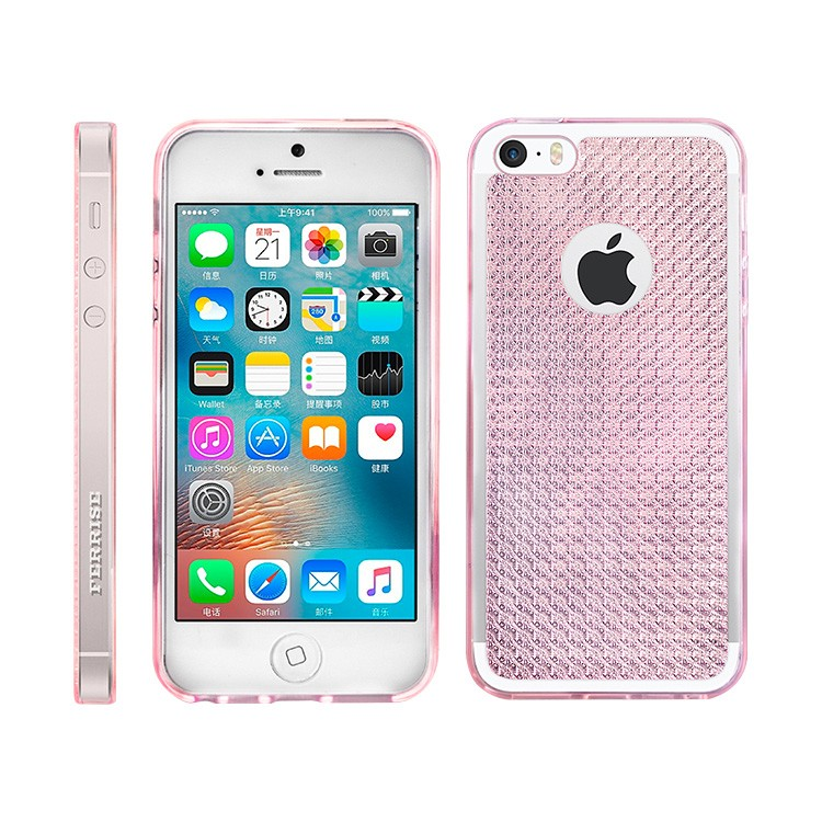 Fashion Glitter Bling Back Cover Skin TPU Case Cover For iPhone 5s SE