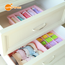 Witorange Stackable Plastic Underware Storage Box Clothes Drawer Organizers with Divided Cells
