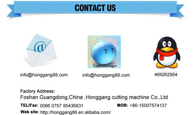 HG-B100T PVC/PET/PE/PS tray packaging plastic cutting machine