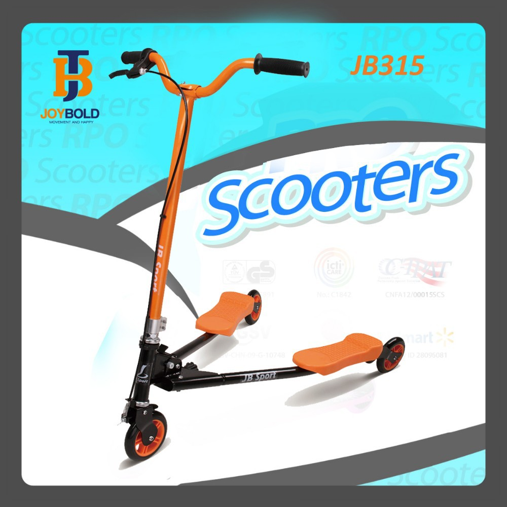 frog Kick Scooter ,3 Wheel adult kick scooter, 3 Wheel <strong>Trike</strong> Scooter Baby Carrier JB315 EN71/14619 APPROVED OEM acceptable