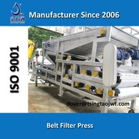Sludge dewatering belt press