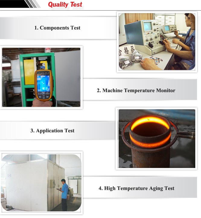 Continuous induction quenching and tempering machine