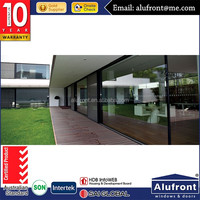 aluminum profile fire protection sliding door with tinted glass