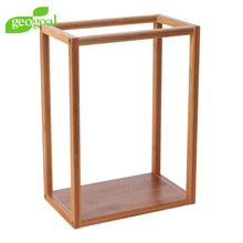 Modern Design Bamboo Frame Cube Hanging Wall Decor