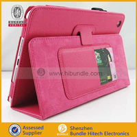 Luxury Design Stand Magnet Button Pu Leather Smart Wallet Case for iPad Mini with Card Slot