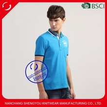 High quality cotton custom plain polo t shirt for men