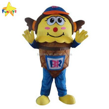 Funtoys CE Factory Direct Sale Customized Ice Cream Mascot Costumes For Adult