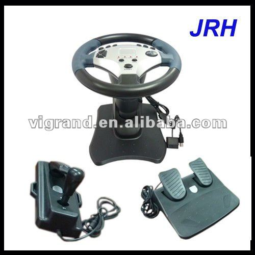 Black video games car steering wheel for ps2 laptop pc