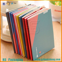 Wholesale Custom Size A4 A5 A6 Art Paper Primary School Notebook Colorful Notepad Agenda