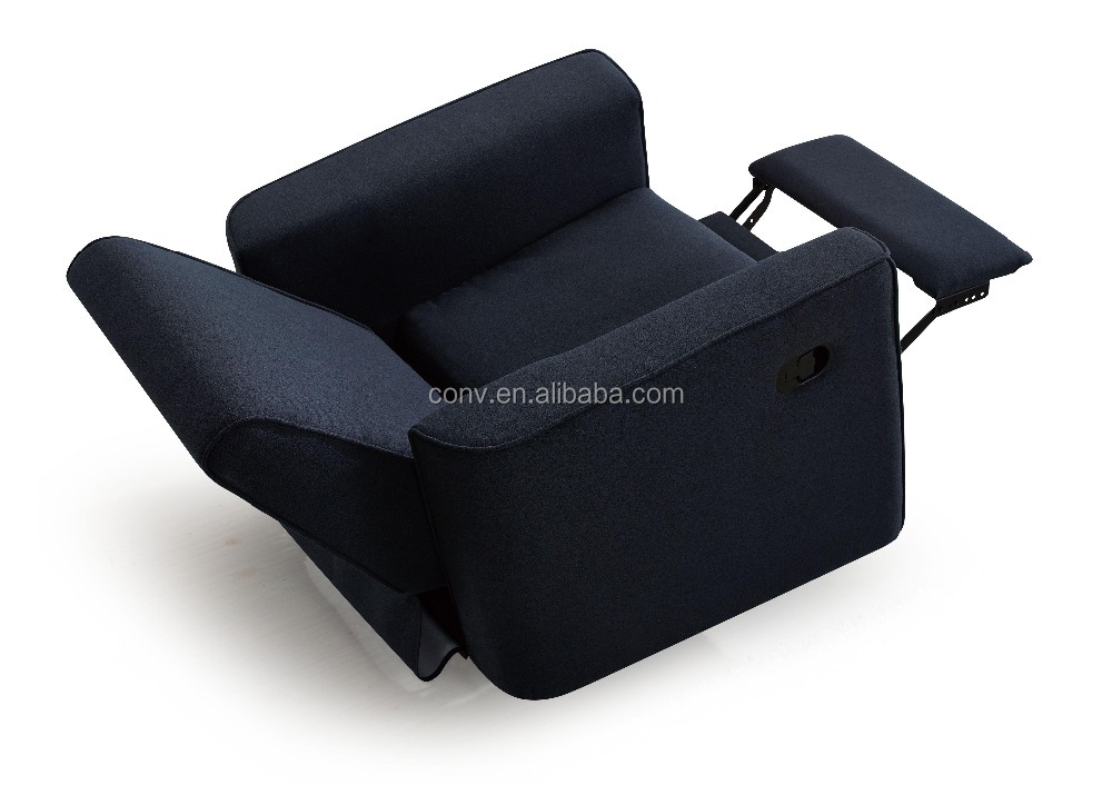 Swivel function fabric design high back recliner chair