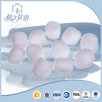CE approved hospital small size sterilize alcohol cotton ball