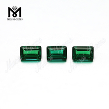 Baguette Cut Loose Gemstones Synthetic Emeralds from China